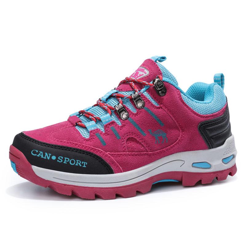 西域 骆驼女鞋新款春季户外登山鞋防滑运动休闲女士旅游跑步单鞋