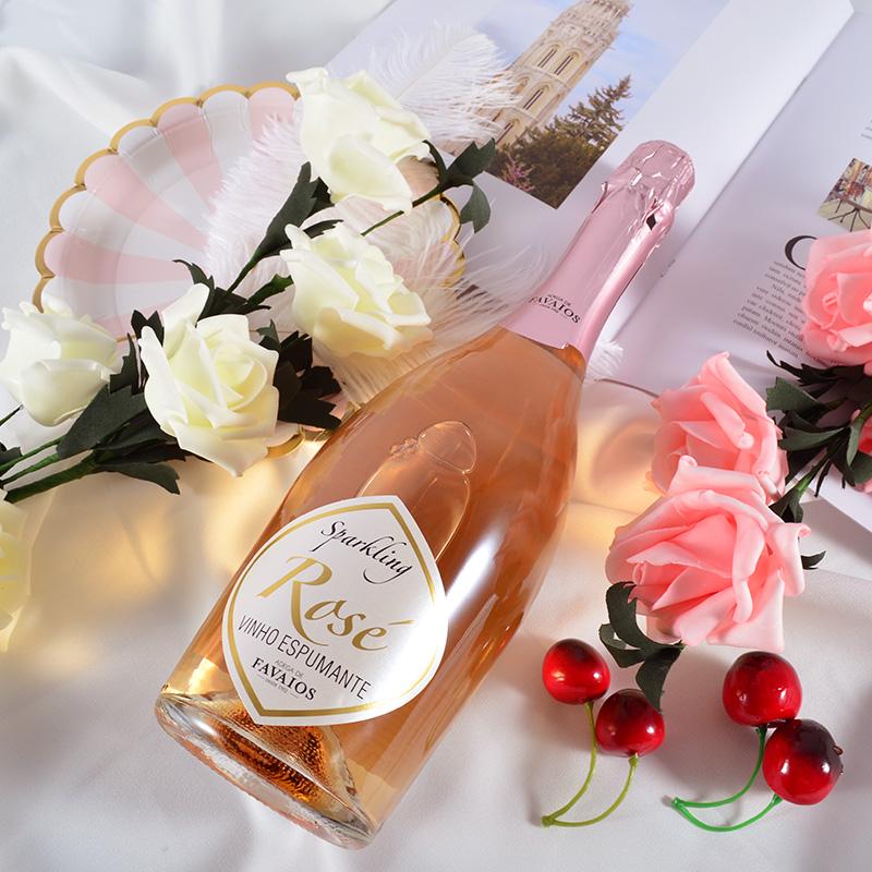 葡萄牙莫斯卡托桃红起泡酒甜型低度酒气泡葡萄酒女士
