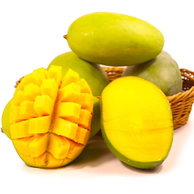 【鲜果喜事】攀枝花凯特大芒果当季热带新鲜水果整箱5斤批发包邮