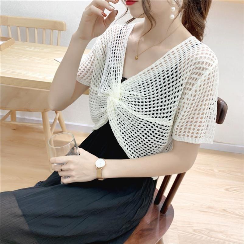 配吊带裙子镂空罩衫女2021新款网衫夏季薄款小外搭披肩式上衣洋气