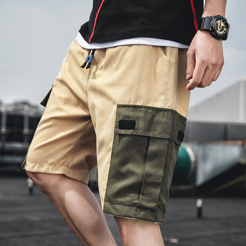 Q shorts mens pants Korean Trend summer fashion brand cotton loose thin 5-point casual pants overalls 9081