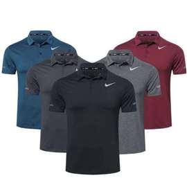 速干弹力高尔夫服装 高尔夫短袖T恤男球衣薄款运动球服POLO衫男装图片