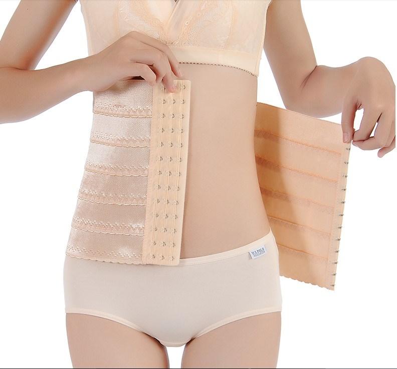 小腹无痕加强版月子塑形薄款腰夹专用产后收腹带束腹带产妇功能型