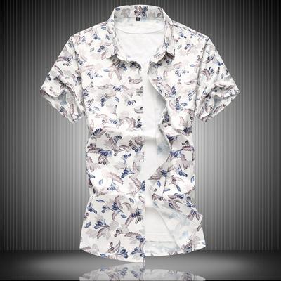 短袖碎花加肥衬衫大码衬衣DS056-5338P50