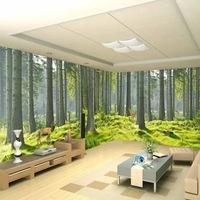 餐厅客厅风景画壁纸无缝欧式客厅沙发简约壁画3d立体延伸墙纸壁布