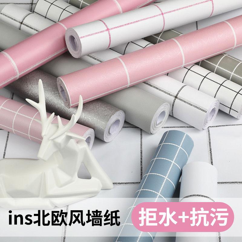 墙纸自粘大学生寝室墙纸PVC墙贴纸壁纸厨房防油贴纸卧室客厅加厚