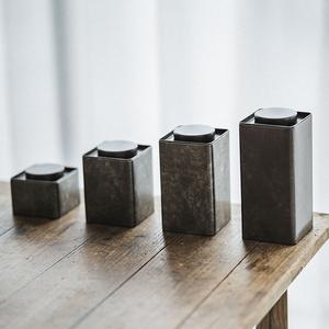 草木祠茶叶罐铁盒便携储茶罐迷你小茶叶盒通用茶叶包装金属密封罐