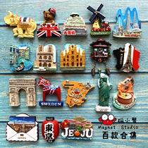 世界各国冰箱贴国外各地创意立体3d装饰磁贴旅游泰国旅行北欧ins