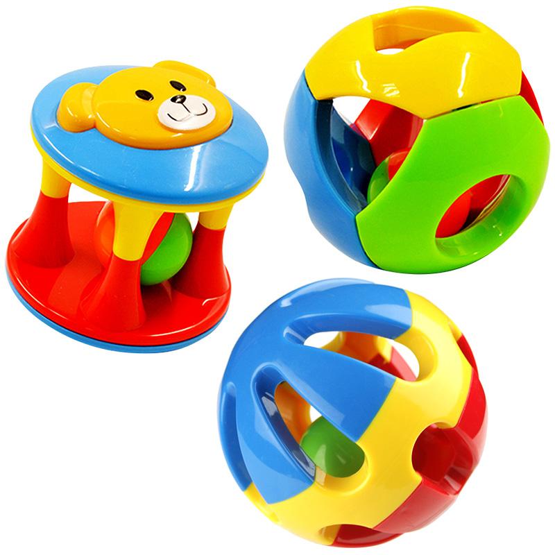 Ребенок игрушка 0-1 лет ребенок сцепление мяч звон мяч многоцветный смысл офицер мяч колокол мяч туннель мяч погремушки колокол