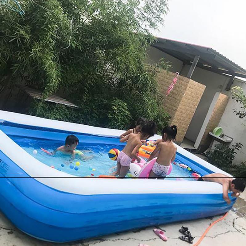 10月19日最新优惠露营小宝宝游泳池摸鱼池游永池充气方形小型钓鱼池玩具1.5m小孩沐