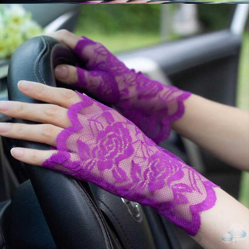 Shenqi summer driving womens antiskid ins drivers black sunscreen gloves touch screen female UV protection
