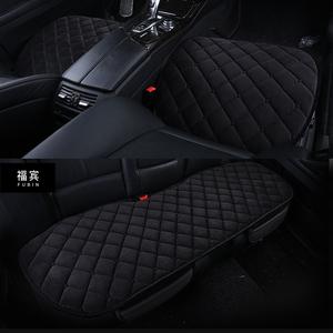 新款汽车坐垫单片冬季毛绒保暖无靠背防滑三件套车垫四季通用座垫