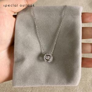 施华洛跳动的心项链女纯银小众品牌设计感新款轻奢简约气质锁骨链