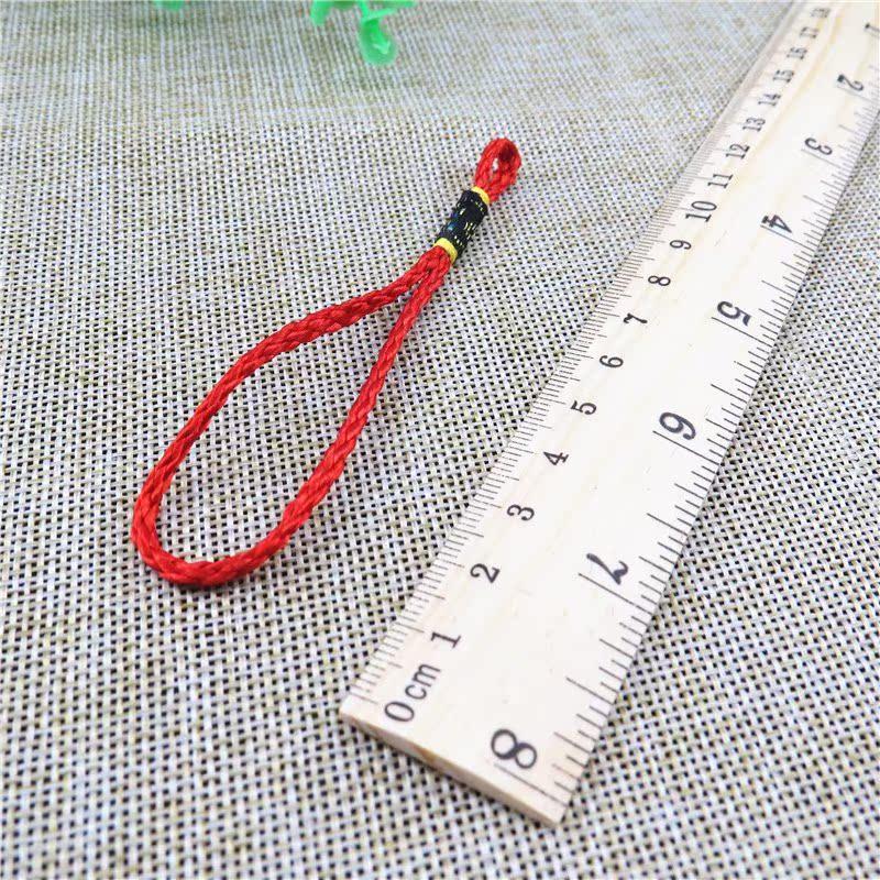 小号普通中国结红色吊头绳配饰 手把件吊绳把玩件铜钱挂绳配件