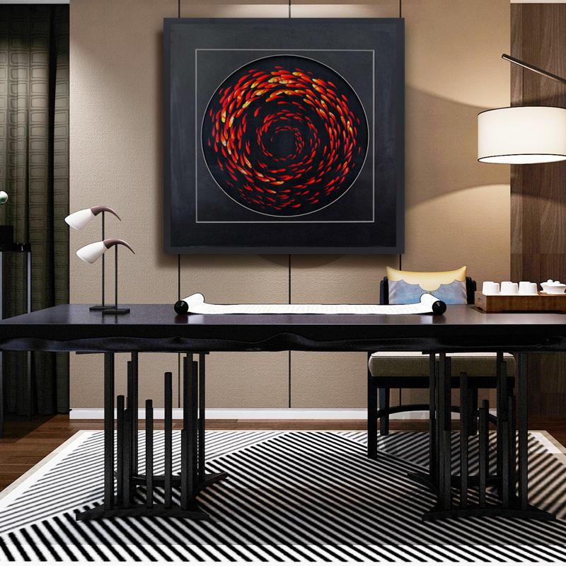 玄关装饰画壁画客厅挂画现代简约大气单幅墙画挂装饰苏绣苏州刺绣