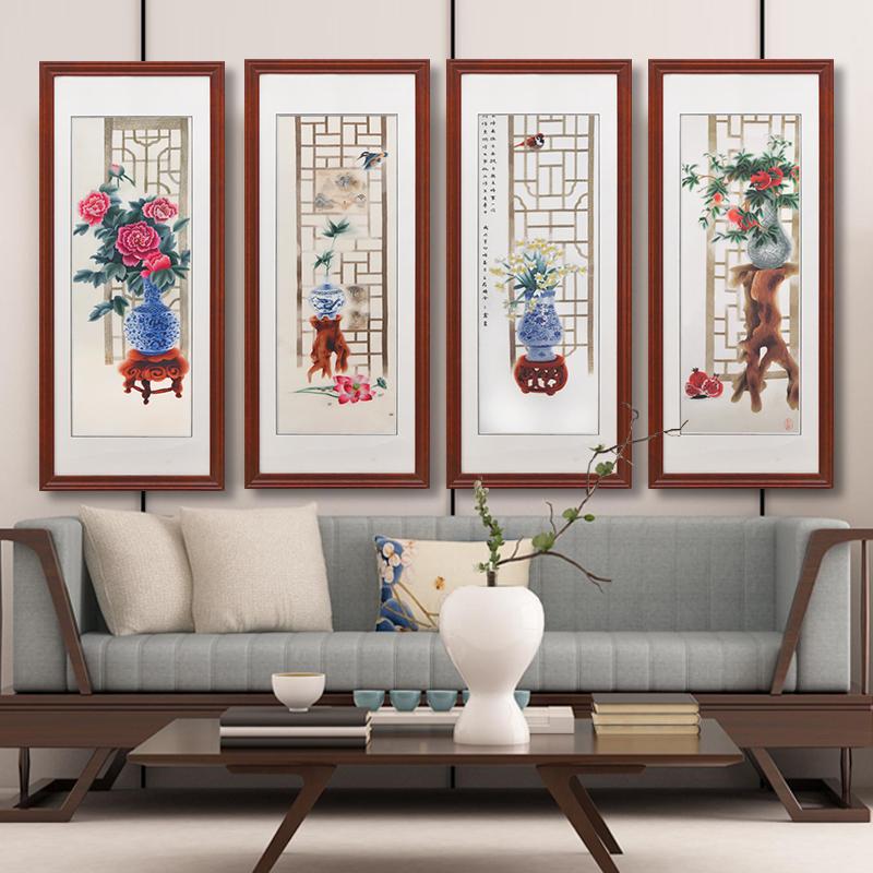 艺术画挂画简约现代个性创意新中式装饰画禅意中国风餐厅书房壁画