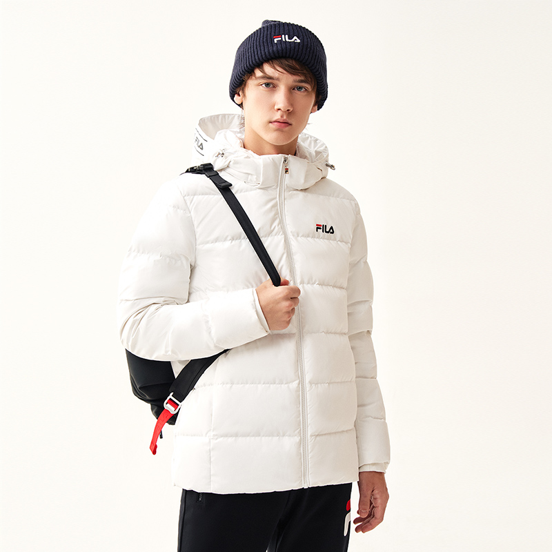 FILA Fiile flagship store down jacket male 2021 winter new sports short thick warm down jacket men's clothing