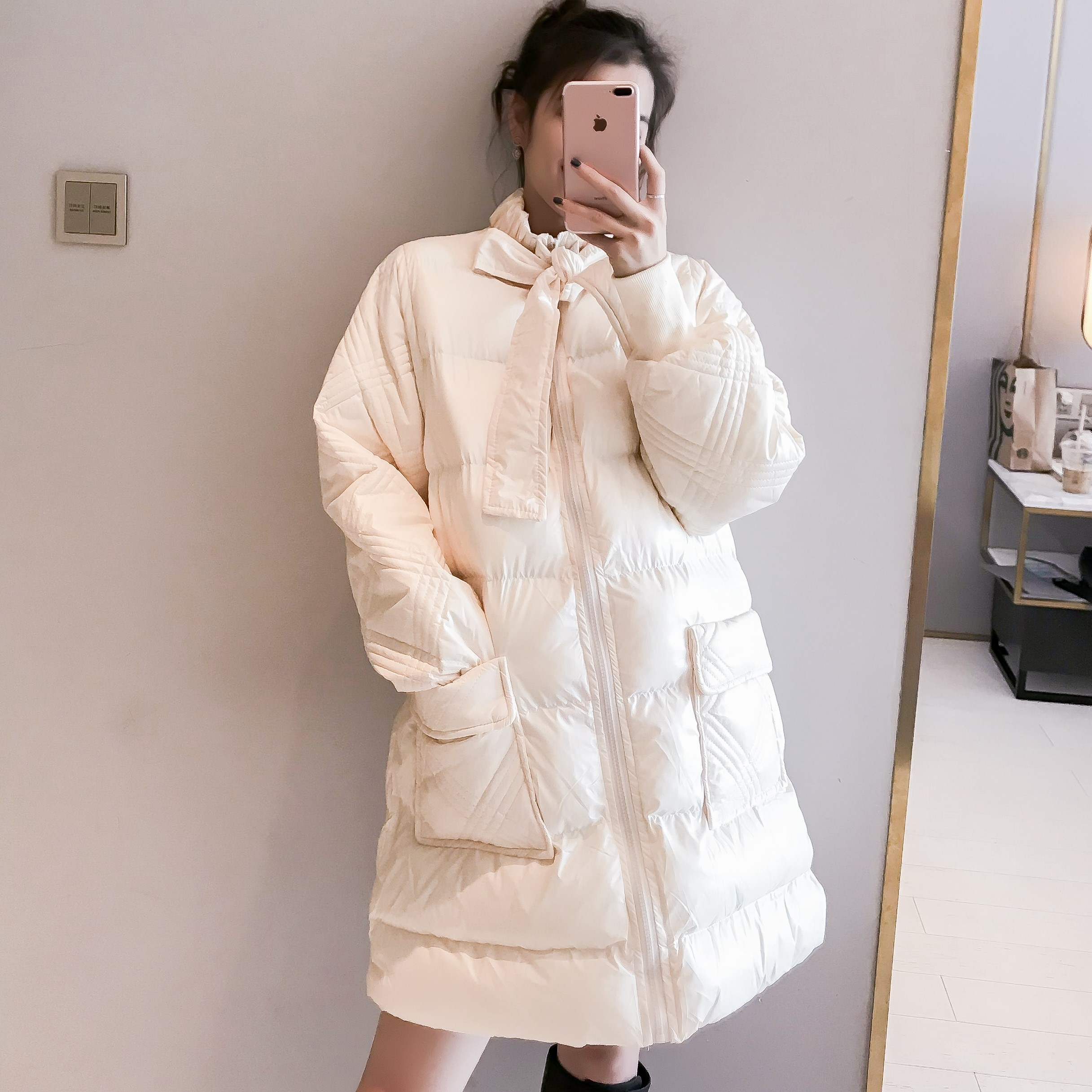 2019 new winter double 11 maternity dress pregnancy postpartum large cotton padded jacket go out warm cotton padded jacket cute fashion girl