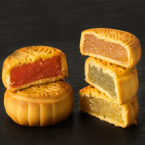 富贵人家广式月饼水果口味多规格可选五仁水果味豆沙糕点中秋饼