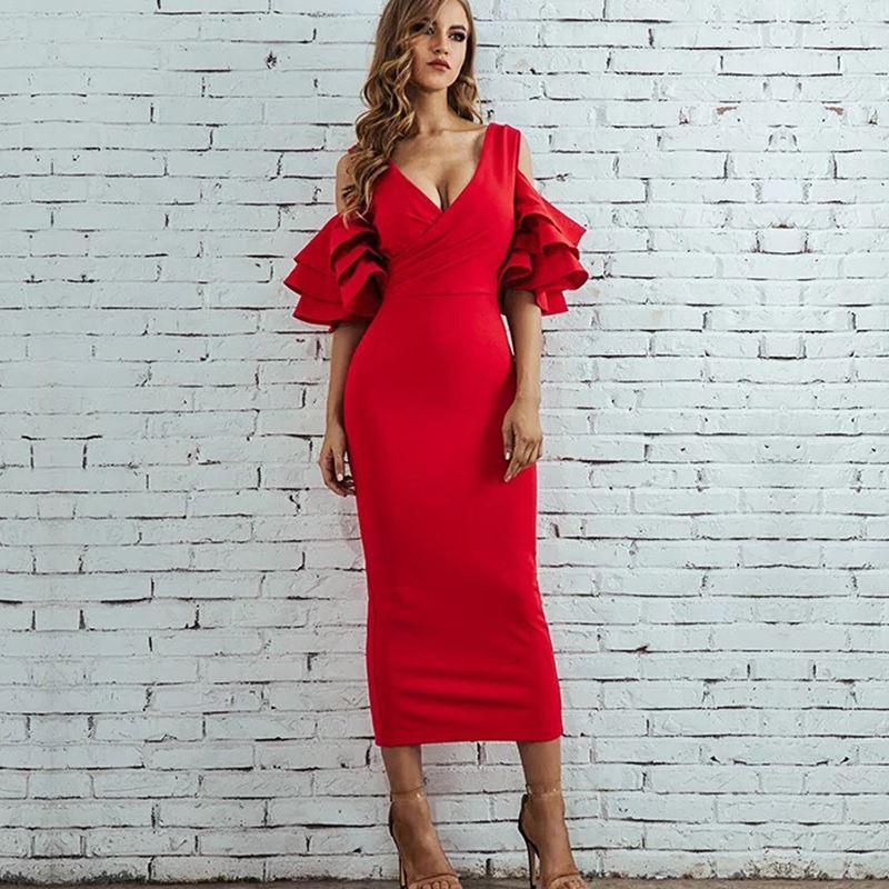bandage dress rayon Evening Party Dress Women Bodycon Sets