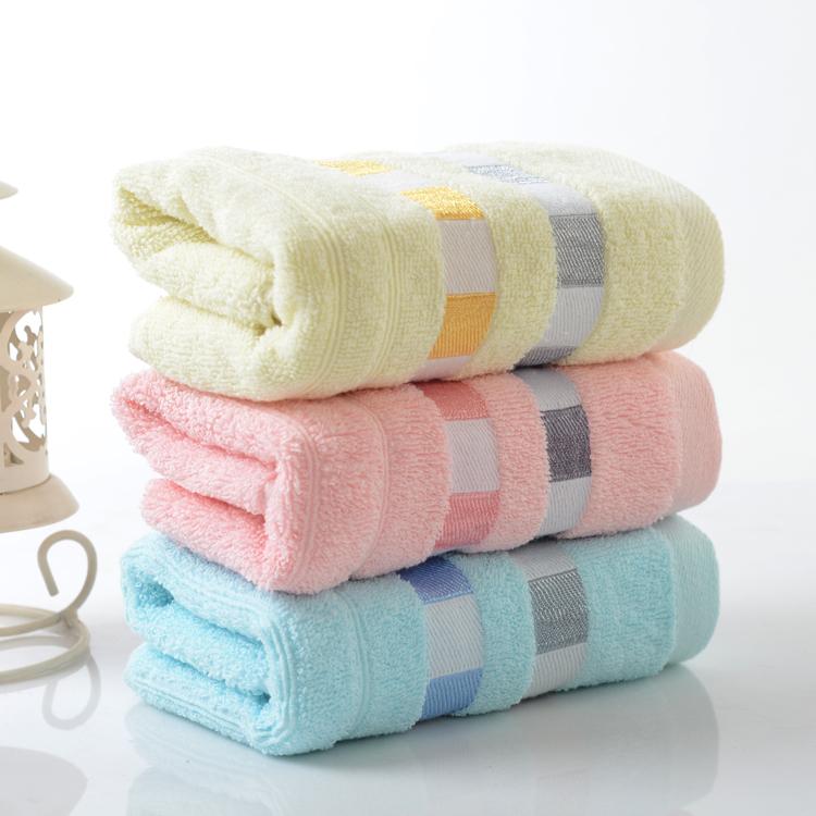级酒店小毛巾纯棉面巾洗脸中巾吸水男女成人家用5条装