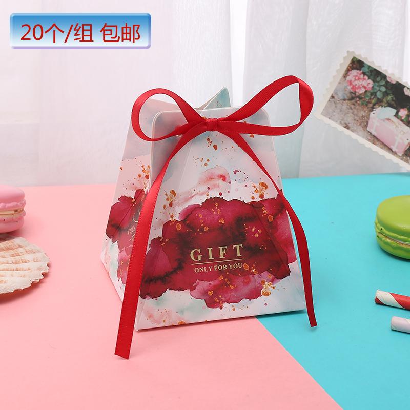 (用4.2元券)2019新款喜糖盒结婚抖音森系创意浪漫欧式糖果盒子isn风婚礼糖袋