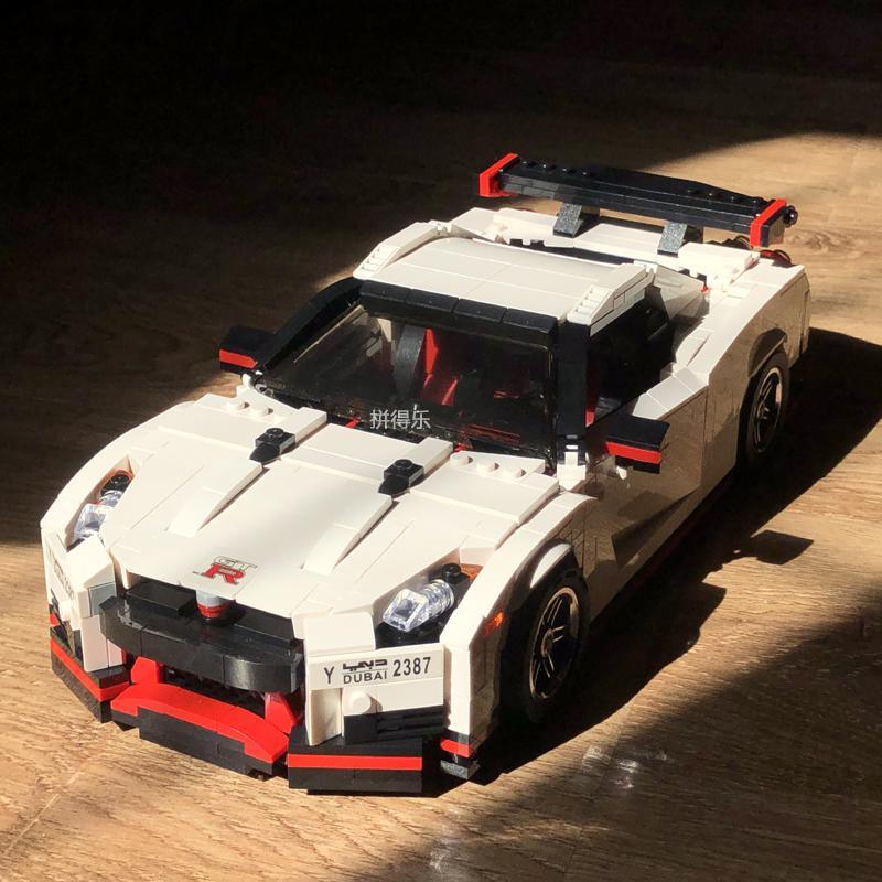 宇星创意系列帕加尼风之子GTR战神911敞蓬跑车高难度拼装积木模型