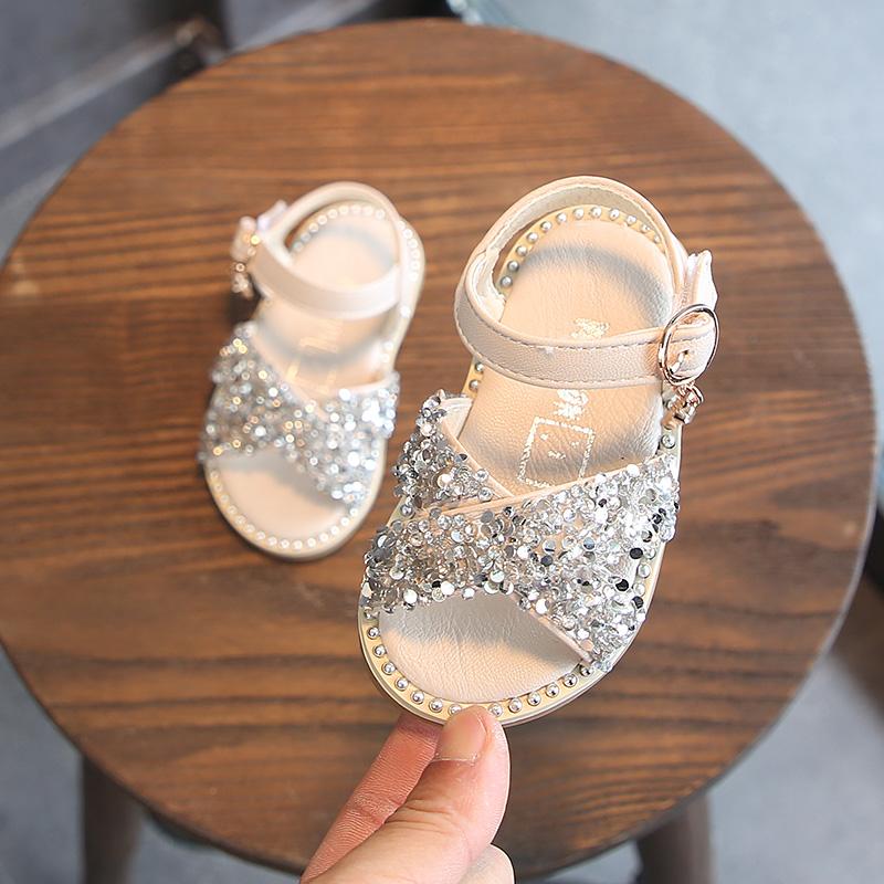 夏季女宝宝凉鞋公主鞋学步婴儿鞋子假一赔三
