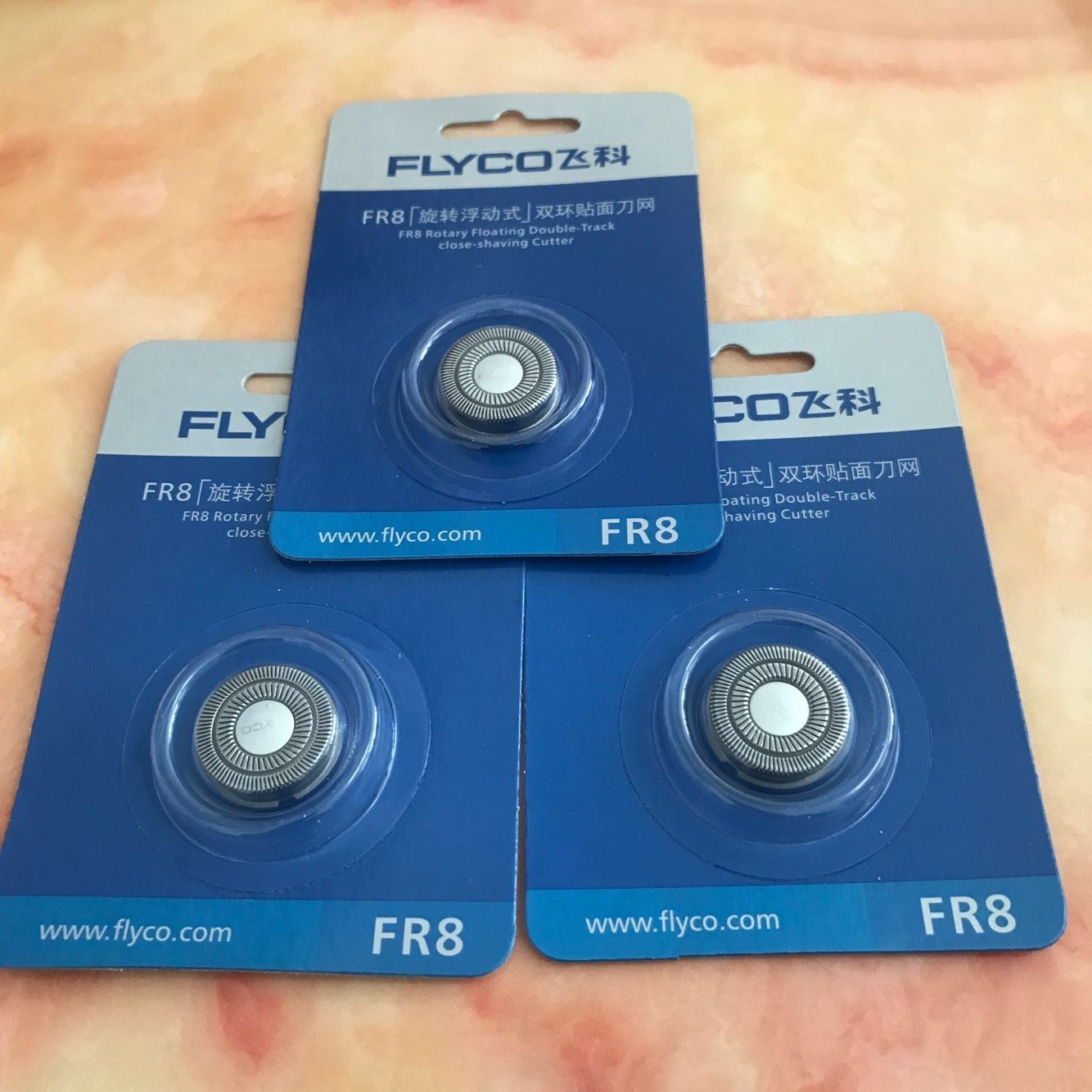 三片装FS373FS372FS371通用FR8飞科男电动剃须刃头刮胡刃片配件
