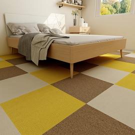 日本免胶拼接方块地毯 自吸式环保地垫 家用儿童房卧室满铺地毯