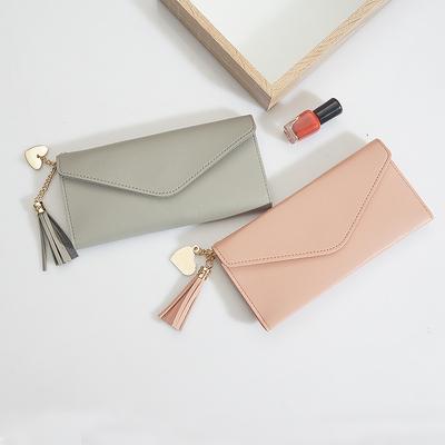 钱包女长款女式钱包韩版简约个性零钱卡包多功能手拿超薄软皮钱夹