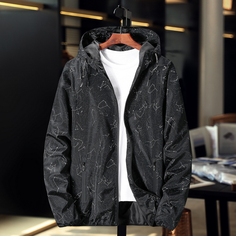 Oversized 9xl oversized jacket mens fattening plus loose spring and autumn thin windbreaker trend all over jacket