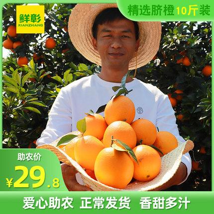 江西赣南脐橙橙子新鲜水果10斤大果包邮当季整箱应季甜橙20果冻橙