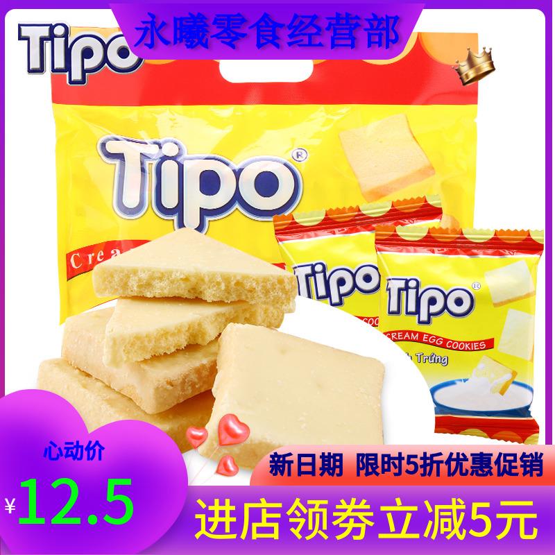越南进口TIPO面包干300g早餐代餐饼干蛋糕办公室休闲零食品大礼包