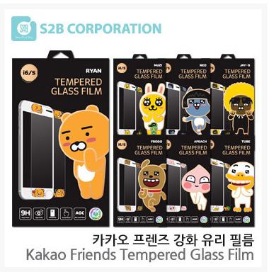 サムソンnote 7を韓国で代理購入しました。S 6可愛いキャラクターのカカノ透明高精細ガラスの前膜です。