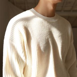 MRCYC男毛衣针织衫秋冬小清新打底衫套头圆领日系休闲保暖毛衫
