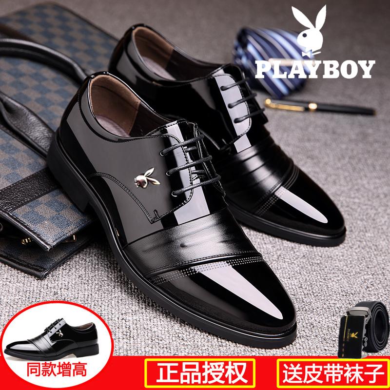 夏季通気ビジネススーツ男性本革結婚靴男性新郎韓版尖頭黒青年高靴