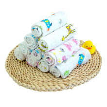 Jieliya pure cotton baby saliva towel baby water absorbent towel newborn baby face washing 6-layer gauze towel