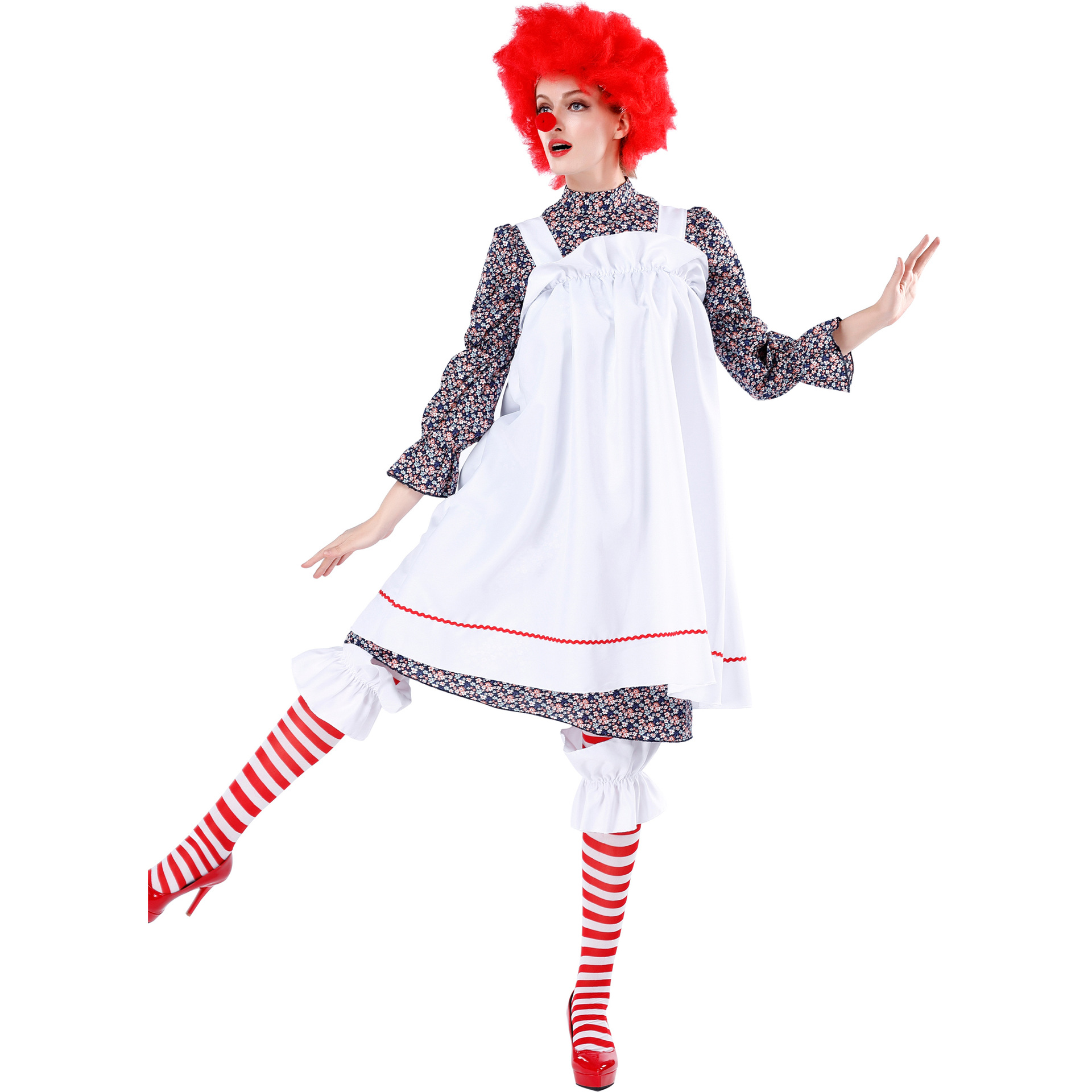 Crazy clown costume costume costume ball Halloween Cosplay role play adult stage performance clothes