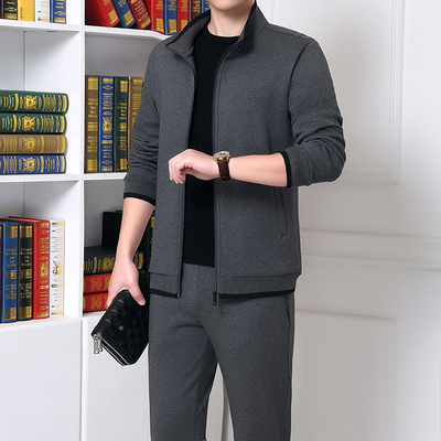 Middle-aged and elderly sportswear men's spring and autumn 2021 new dad autumn casual sportswear men's two-piece suit