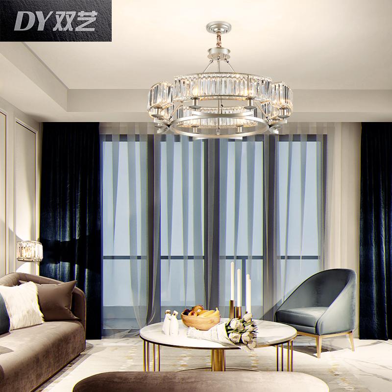 水晶吊灯后现代简约客厅灯创意个性餐厅灯家用北欧卧室灯轻奢灯具
