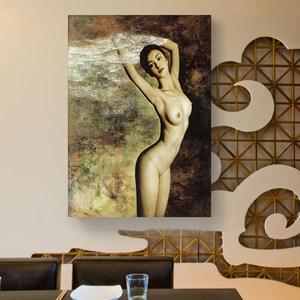 欧美性感美女装饰画酒吧卧室挂画洗手间墙画浴室挂画人体艺术油画