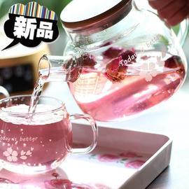 花茶壶玻璃电煮小容量迷vankwine茶壶耐热玻璃茶具耐高温泡茶壶花图片