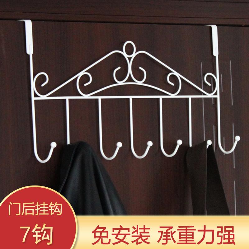 厂家直销不包邮  铁艺门后挂钩架背式置物浴室厨房衣帽钩 T49