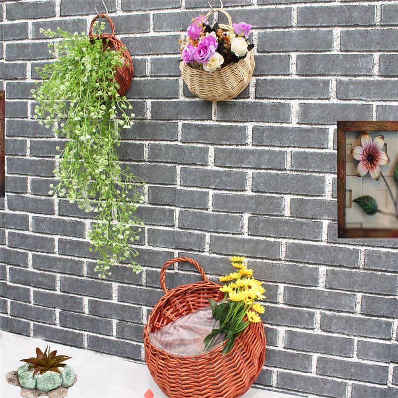 创意篮子复古厨房墙面装饰编制餐厅新中式墙壁干花挂件花篮壁挂