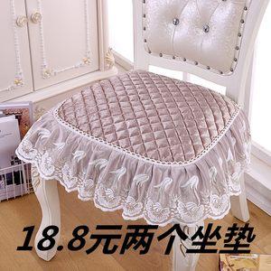 欧式餐椅垫防滑布艺坐垫中式简约家用秋冬椅子套罩凳子垫四季通用