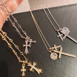 苏小花十字架项链女小众设计感2020夏季新款潮流时尚朋克颈脖饰品图片