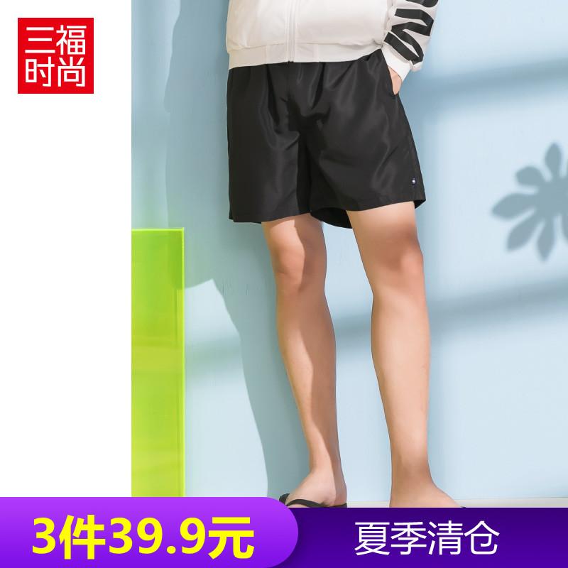 券后19.00元三福2019新品男轻薄运动抽绳短裤