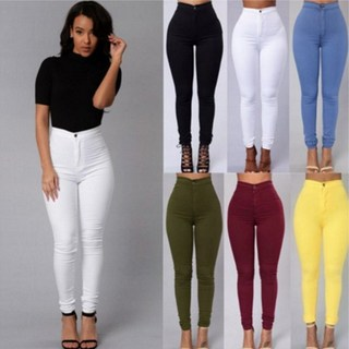 2018Fashion elastic jeans women leggings ladies jeans pants, цена 376 руб