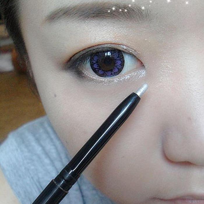 不染眉韩国双头卧蚕笔防水不晕妆眼线笔/液/眼影棒高光珠光白彩妆